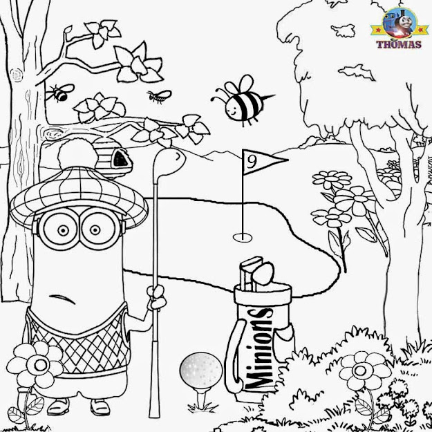 Magnificent Fun Minion Coloring Pages Model