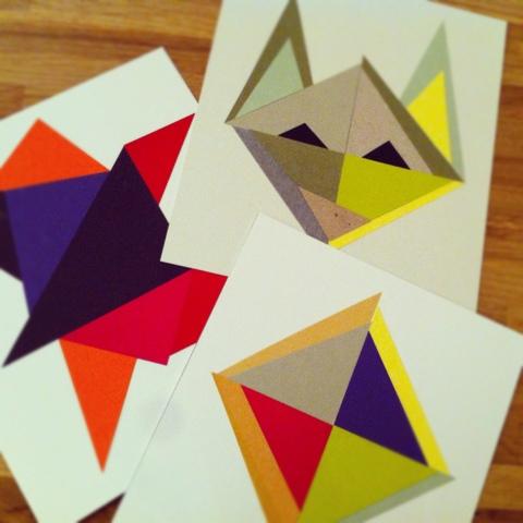 DIY geometriske kort