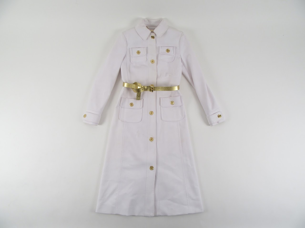 Michael By Michael Kors White Coat