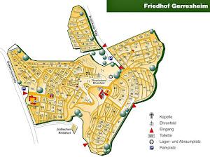 Plan, Friedhof Gerresheim.
