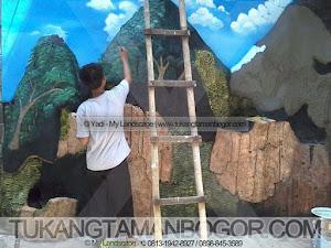 Jasa Tukang Taman, Kolam, Gazebo -5- Pengecatan Relief Lukisan Dinding