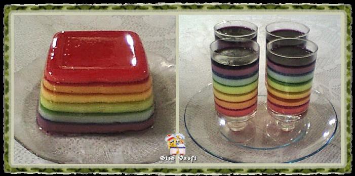Gelatina arco iris