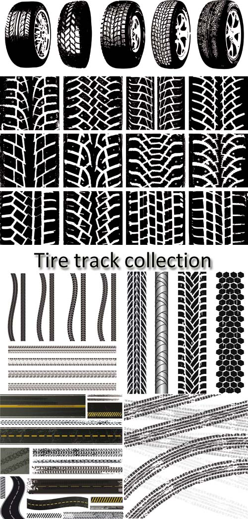 Stock: Tire track collection