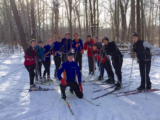 Members of the Minneapolis Washburn ski team on Twin Lakes
