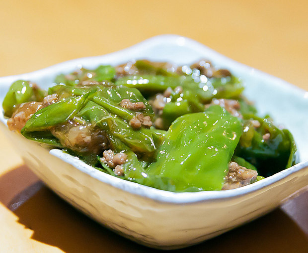 photo of Stir Fried Mild Pepper with Ground Beef Sauce
