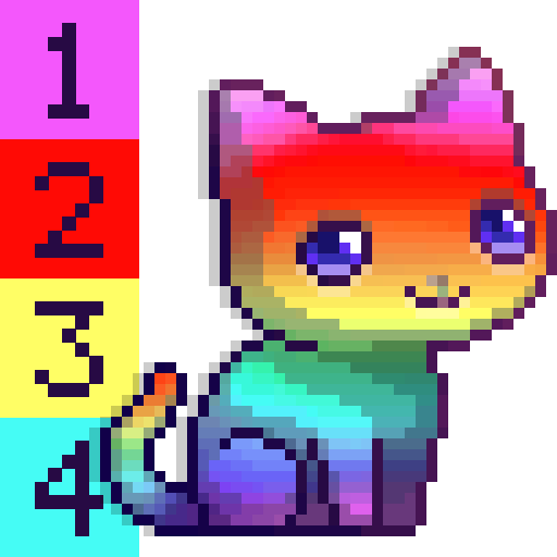 Chat Color By Number Pixel Art Chat Applications Sur