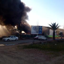 Incendio en Puebla de la Calzada