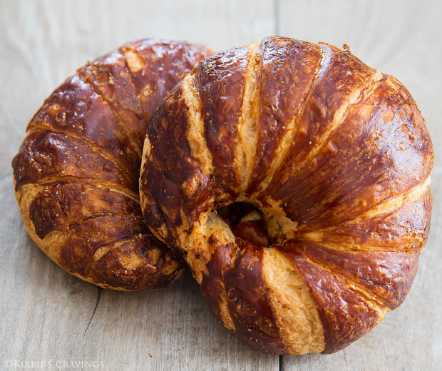 photo of two Pretzel Croissants