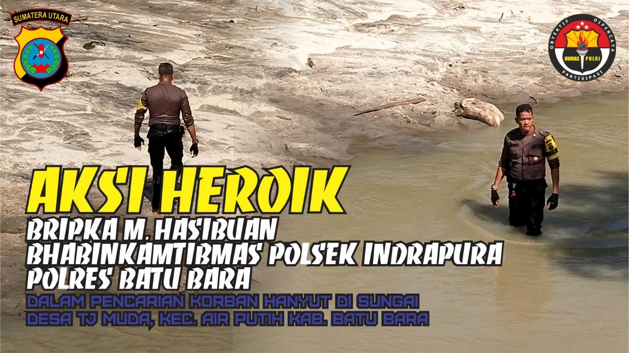 Aksi Heroik Bhabinkamtibmas Bripka M. Hasibuan Polsek Indrapura