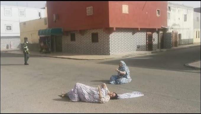 Policías marroquíes golpean y dejan parapléjica a una mujer saharaui en Bojador ocupado.