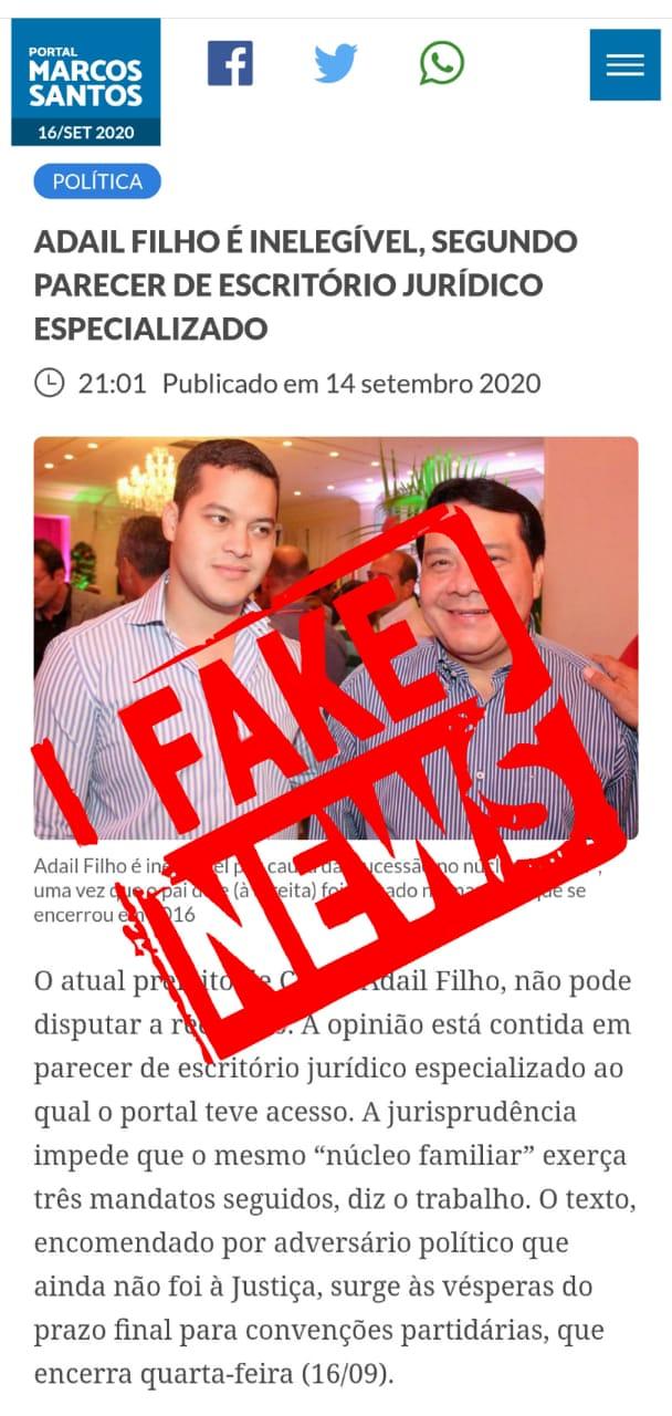 A LENDA URBANA DO TERCEIRO MANDATO DE ADAIL FILHO