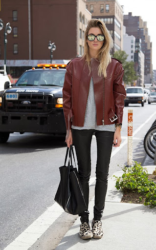 Camille Charriere; fashion blogger; fashion journalist; Sportmax jacket; Acne t-shirt;  Joseph trousers; Celine bag; Celine shoes; Camytox;