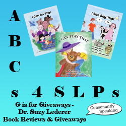ABCs 4 SLPs: G is for Giveaways - Dr. Suzy Lederer Book Reviews and Giveaways image