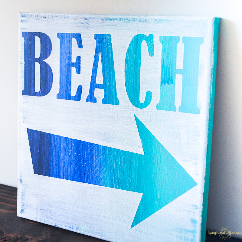 beach art sign