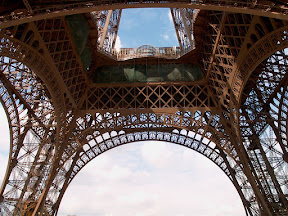 The Eiffel Tower from underneath