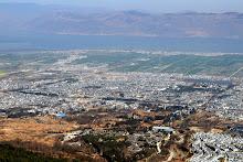 Monts Cangshan : panorama sur la vieille ville de Dali et le lac Erhai