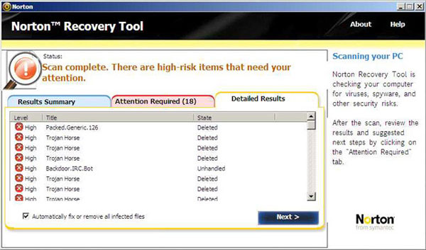 Norton Bootable Recovery Tool  ~ Virus Removal Support