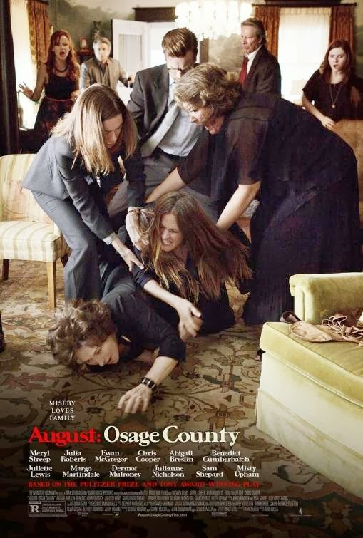 Poster Of English Movie August Osage County (2013) Free Download Full New Hollywood Movie Watch Online At Alldownloads4u.Com