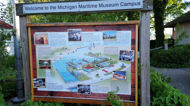 A map of the Michigan Maritime Museum campus in South Haven, Michigan