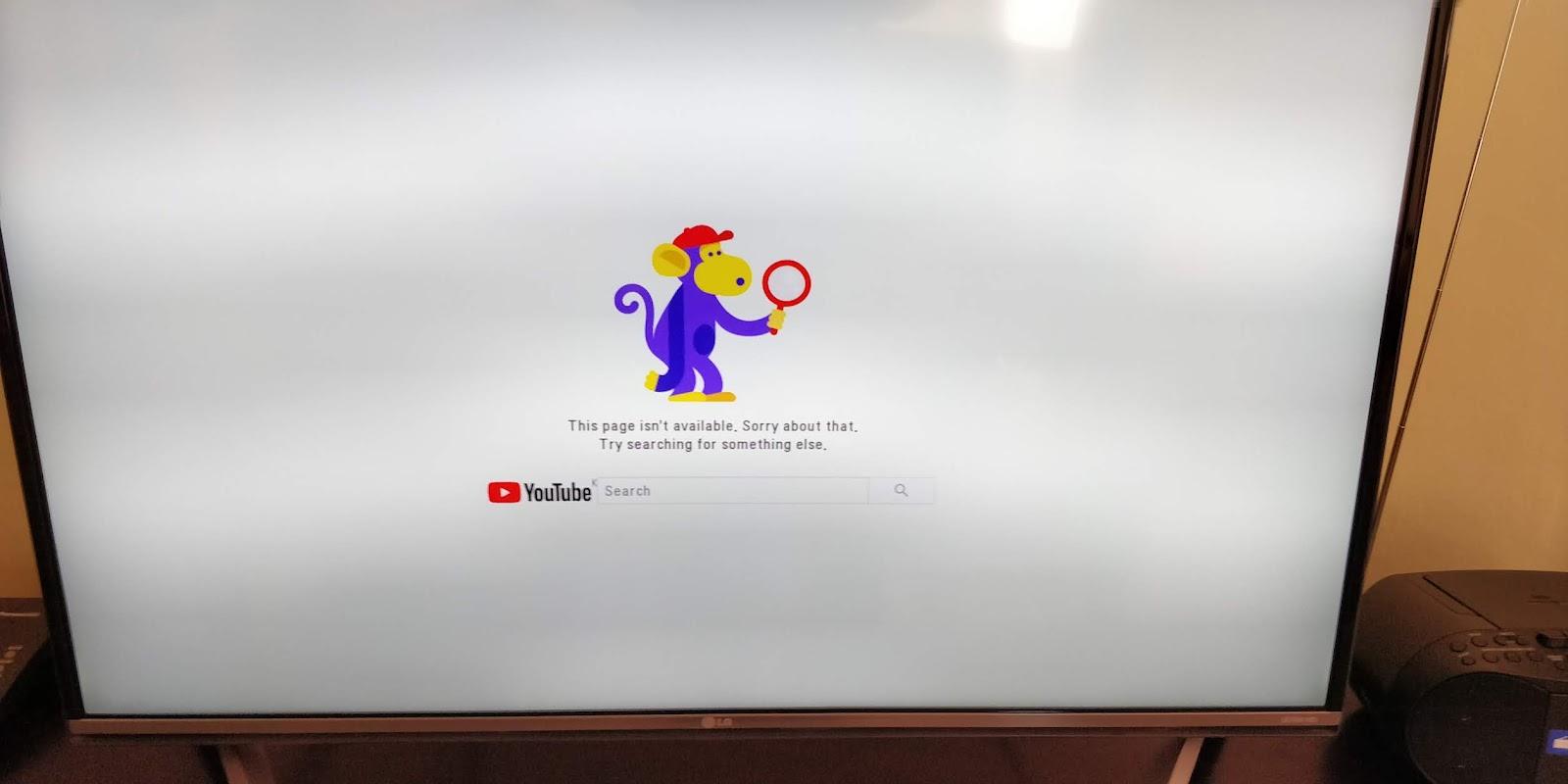 Lg tv error
