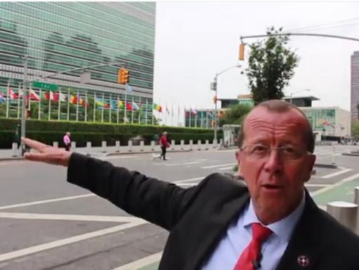 Le Représentant spécial du Secrétaire général des Nations Unies, Martin Kobler à New York le 13 juillet 2015. Capture Youtube.