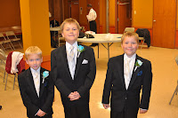 Cousin Michael, Josh and Andrew looking good!