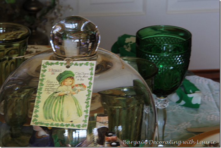 St. Patrick's Tag on Cloche