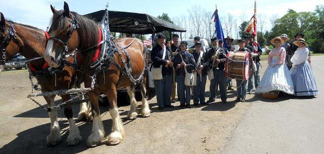5th MI Regimental Band's coach awaits