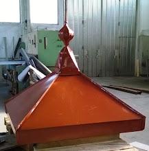 Photo: Streha zvonika je dobila novo pločevino na Ptuju pri gospodu Martinu Kokolu. Zaključeno 8.8.15.