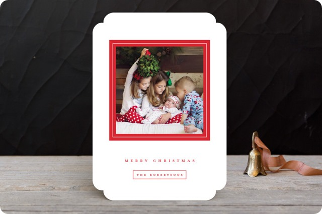 minted gilded frame christmas card