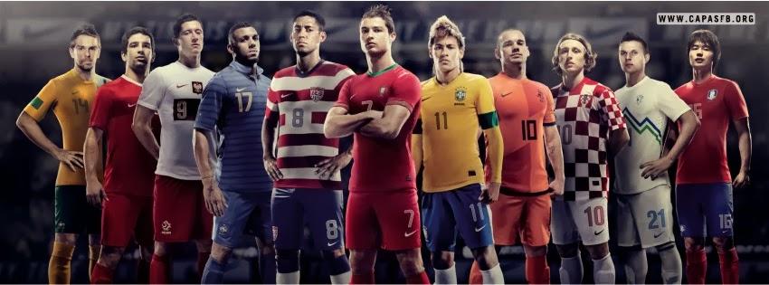 Capas para Facebook Jogadores de Futebol