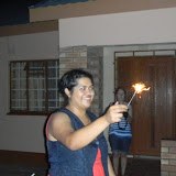 Christmas in Mochudi 2011 - Dinah with Sparklers