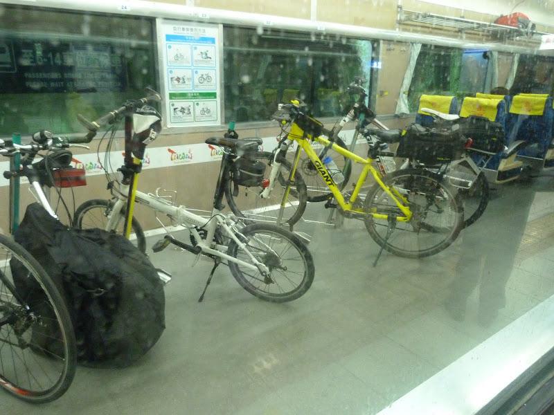 Taipei , wagons dédiés aux vélos