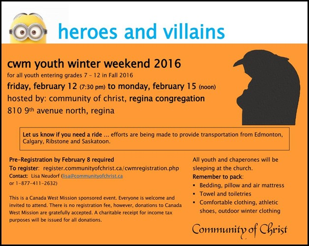 cwm youth winter weekend 2016