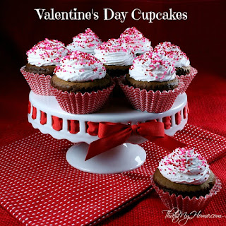Chocolate Valentine's Day Cupcakes with Fluffy Frosting