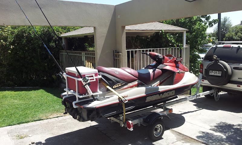 Jet ski fishing rack pvc cosmecol for Jet ski fishing rack