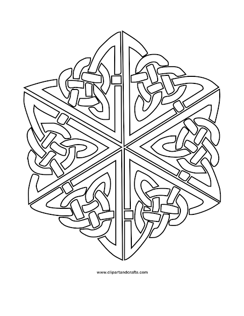 HD Celtic Mandala Coloring Pages Drawing