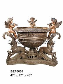 Angel, Bronze, Cherub, Fountain, Statue, Urn
