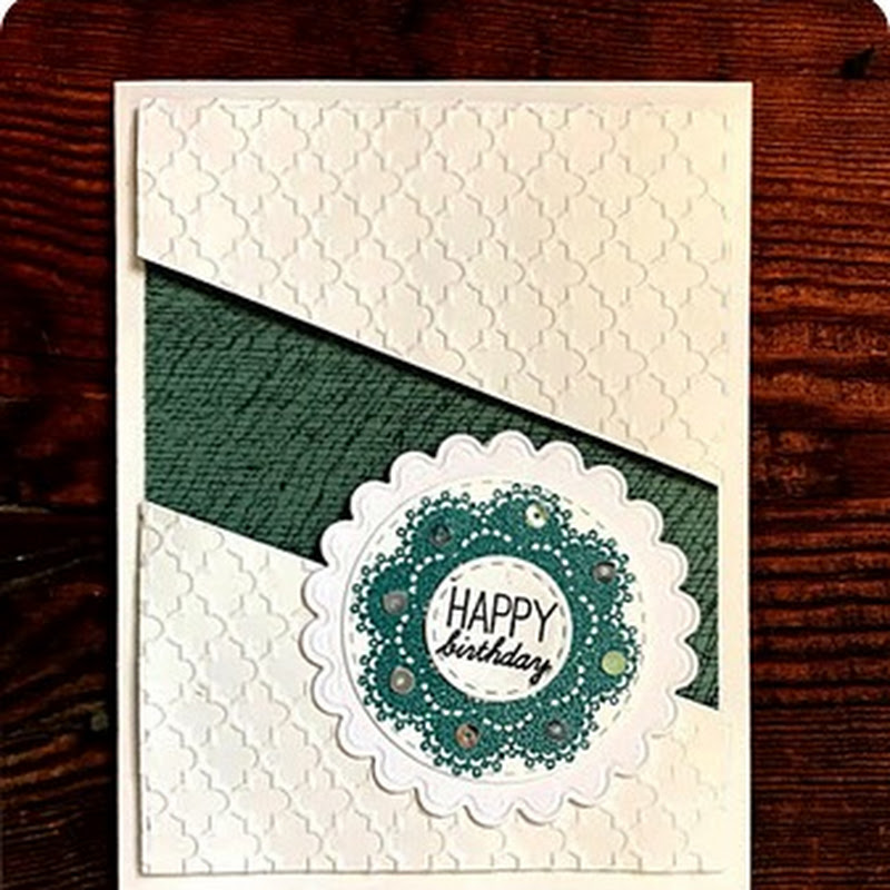 Embossed Happy Birthday