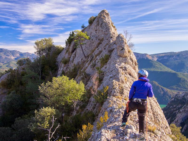 Tram superior de l'aresta de la Roca Subirana