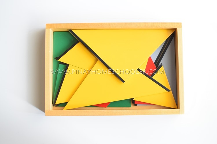 Montessori Constructive Triangles: Rectangular Box