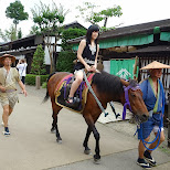 riding a horse at Edo Wonderland in Nikko, Totigi (Tochigi) , Japan