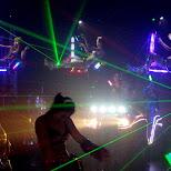 japanese girls lightshow in Kabukicho, Tokyo, Japan
