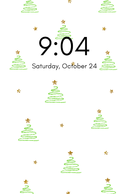 Christmas tree phone wallpaper