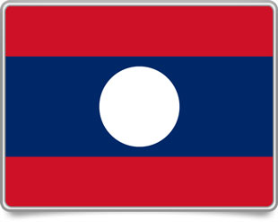 Lao framed flag icons with box shadow