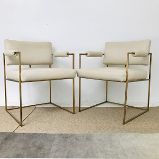 Milo Baughman + Thayer Coggins Armchair Pair