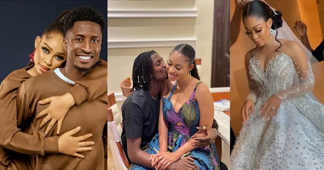 Actress, Miss Pepeye of Papa Ajasco weds Super Eagles player, Peter Olayinka [Video/Photos]