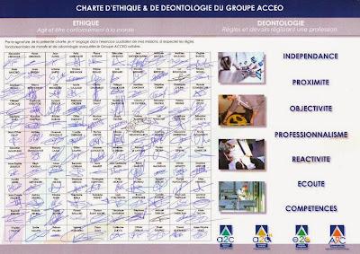 Charte d'éthique et de déontologie du Groupe ACCEO