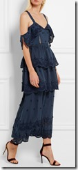 Tiered Navy Broderie Anglaise Self Portrait Dress