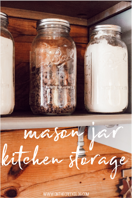 Baking Supply storage in mason jars!